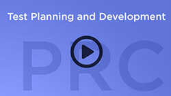 play button that says Test Planning and Development